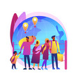community migration abstract concept vector image vector image