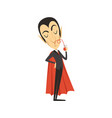 count dracula vampire drinking blood vector image vector image