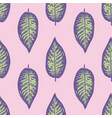 dieffenbachia ultra violet tropical leaf seamless vector image vector image