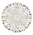 dustbin fireworks sphere vector image vector image