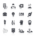 Electricity Icon Black vector image