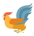 Flat Yellow rooster vector image