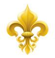 golden fleur-de-lis vector image vector image