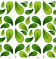 green leaf seamless background vector image vector image