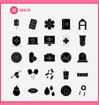 health solid glyph icon for web print and mobile vector image vector image