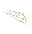high-speed train sketch vector image vector image
