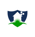 home shield logo design template vector image vector image