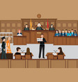 isometric people judicial system set vector image