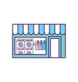 laundry building front idolated icon vector image