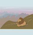 Lion lies on nature