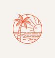 logotype summer beach logo template vector image vector image