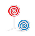 lollipop swirl set colored sugar candies vector image