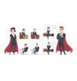 male female business characters different office vector image vector image