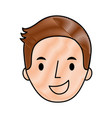 man young face character profile vector image