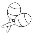 Maracas icon outline style vector image