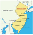 new jersey - state usa vector image vector image