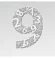 Number nine vector image vector image