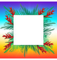 palm leaves on frame vector image vector image