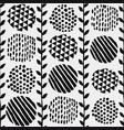 pattern vintage floral and spot elements vector image vector image