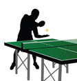 ping pong player silhouette four vector image vector image