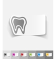 realistic design element tooth vector image vector image