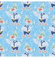 Seamless cartoon goose divers vector image vector image