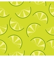 Seamless pattern of green lime slices vector image vector image