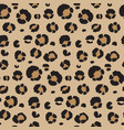 seamless pattern with leopard skin endless vector image vector image