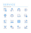 set color line icons services vector image vector image