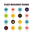 Set of flat icons for main national holidays vector image vector image