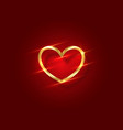 shiny gold heart logo 3d icon valentine s day vector image vector image