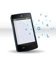 smartphone abc vector image vector image