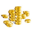 stack of shiny gold coins vector image vector image