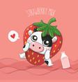 strawberry milk vector image