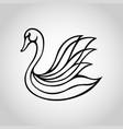 swan logo icon vector image vector image