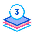 three layers icon outline vector image