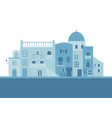 typical greek island houses in blue on white vector image