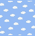 unusual seamless pattern with cute sleeping vector image vector image