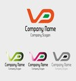 VD logo Idea vd symbol vector image