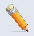 writting pencil colored pencil set crayon vector image vector image
