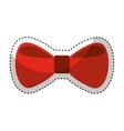 bow tie elegant icon vector image
