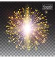 Festive Gold glitter particles effect Shiny shape vector image