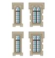 Gothic windows set vector image