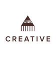 logo design letter a pencil triangle logo vector image