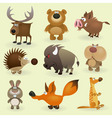 wild animals set 2 vector image