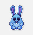 0648 sticker easter rabbit egg converted vector image