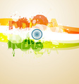 abstract style indian flag vector image