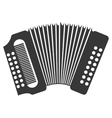 Accordion music instrument icon design vector image