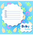 Baby Shower Card Template vector image vector image