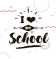 back to school typographic labels set vector image vector image